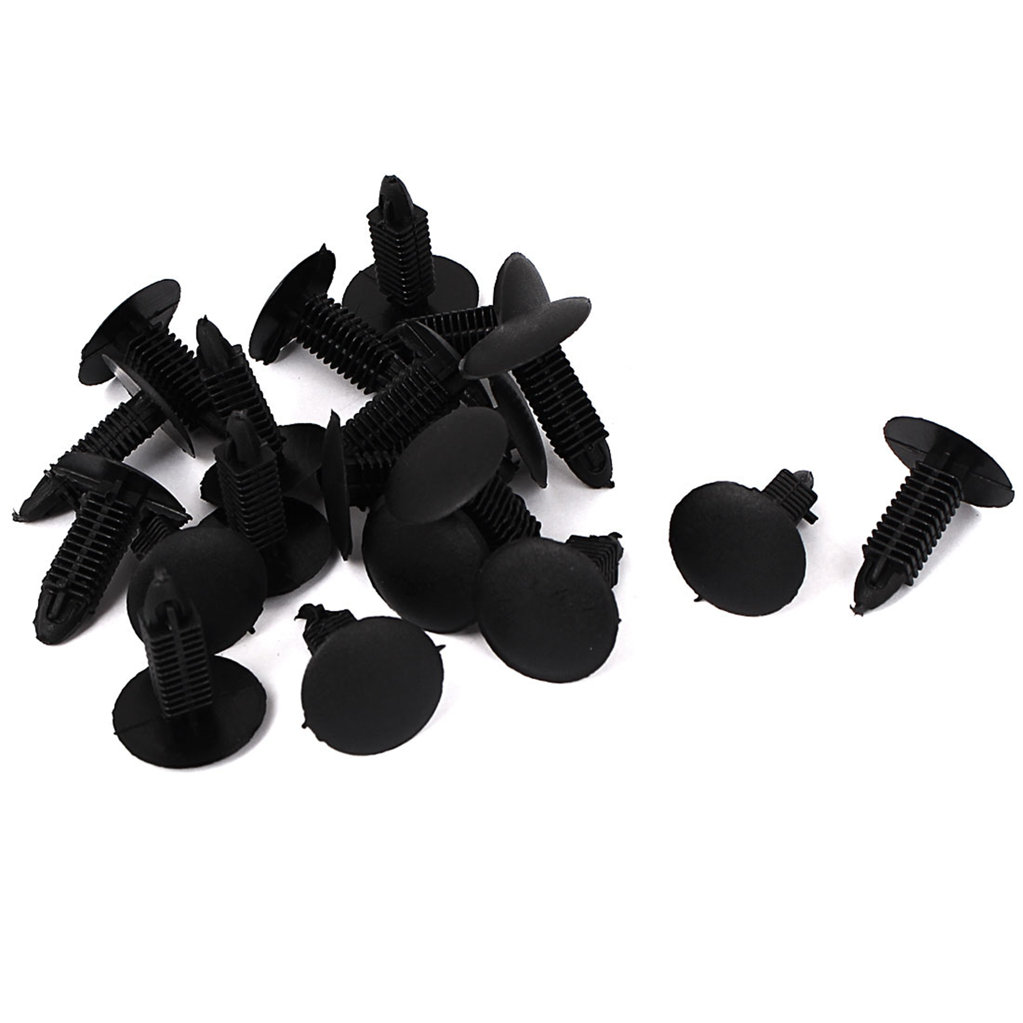 Car Bumper Door Trim Fender Plastic Push in Rivets Panel Fastener Black 20pcs