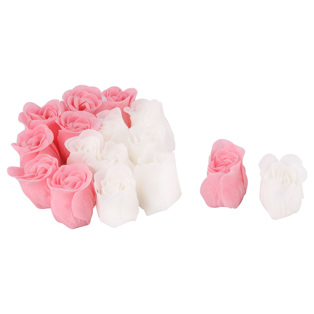 Household Bathroom Rose Shaped Bath Body Hand Fragrant Bud Petal Soap 16 Pcs