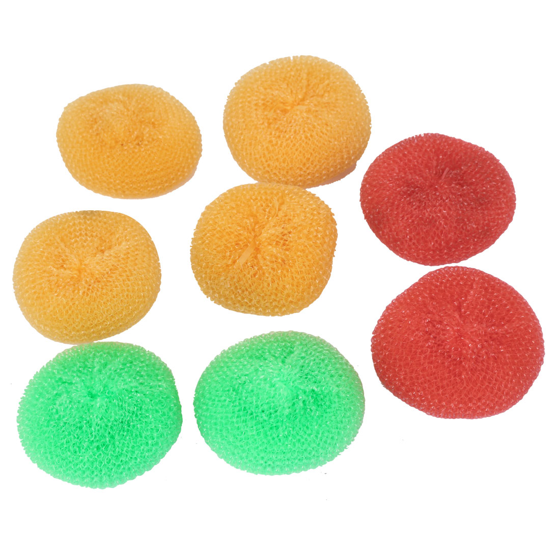 Plastic Wire Round Ball Bowl Dish Washing Scouring Scrubber 8pcs