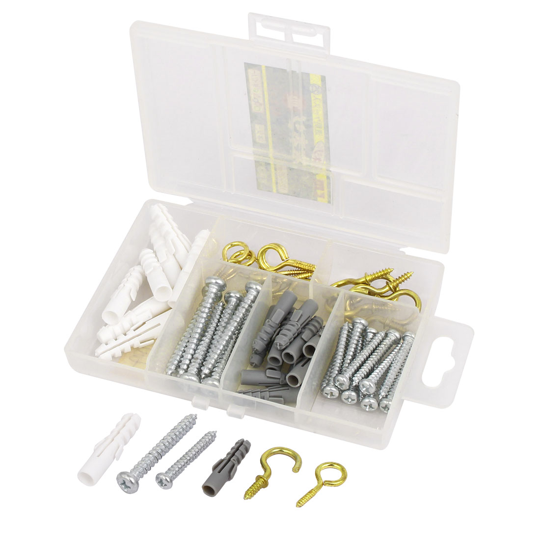 Expansion Nails Cup Hooks Eye Hooks Screws Household Fastener Set