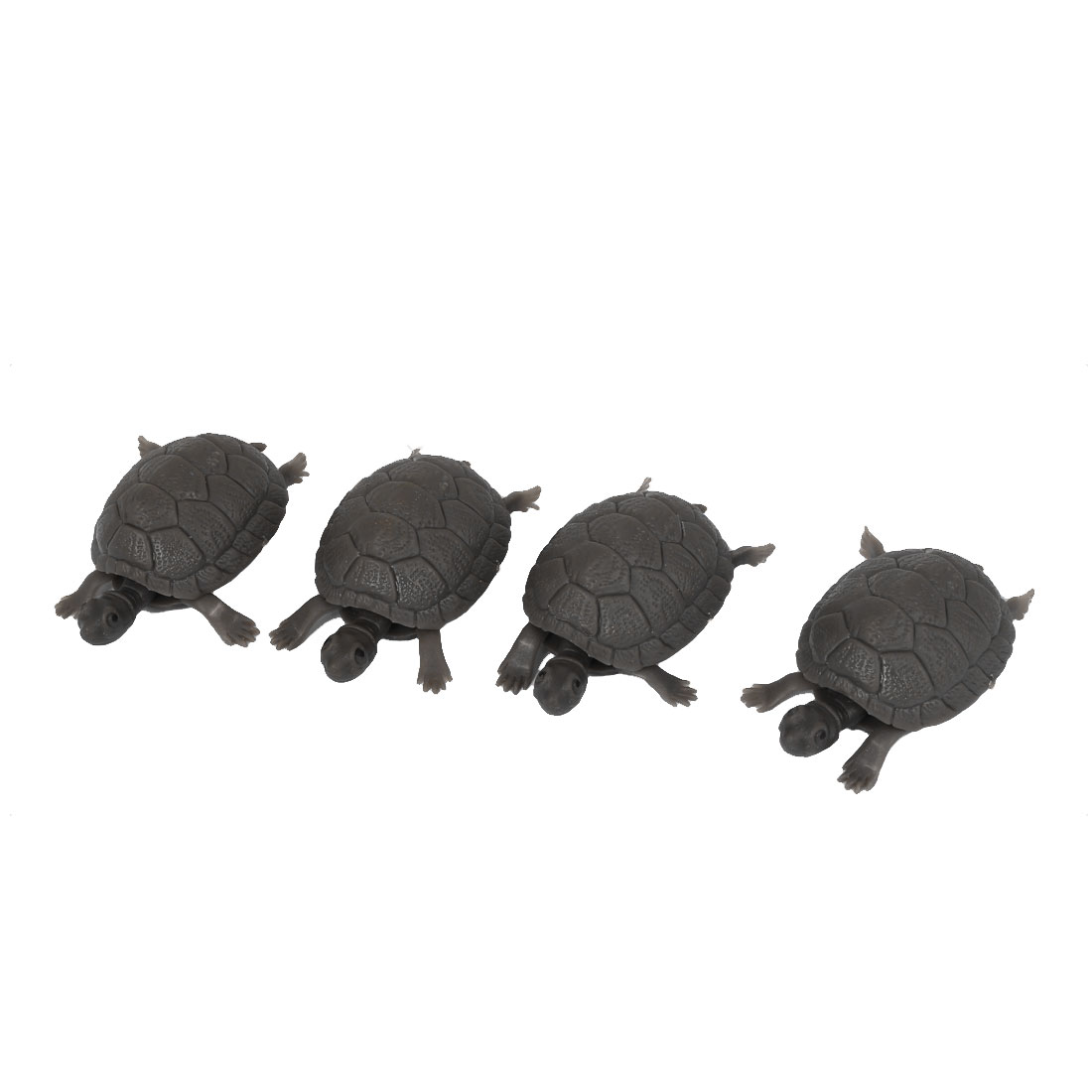Plastic Tortoise Aquarium Decorative Ornament Fish Tank Decor 4pcs