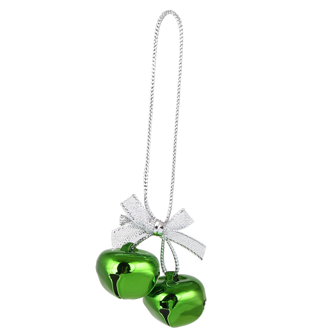 Festival Christmas Tree Metal Bowknot Ring Bell Pendant Hanger Decor Green