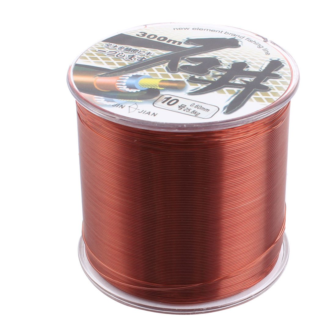 10# Brown Nylon 0.60mm Dia Thread 25.8kg Fishing Fish Line Spool Reel 300M