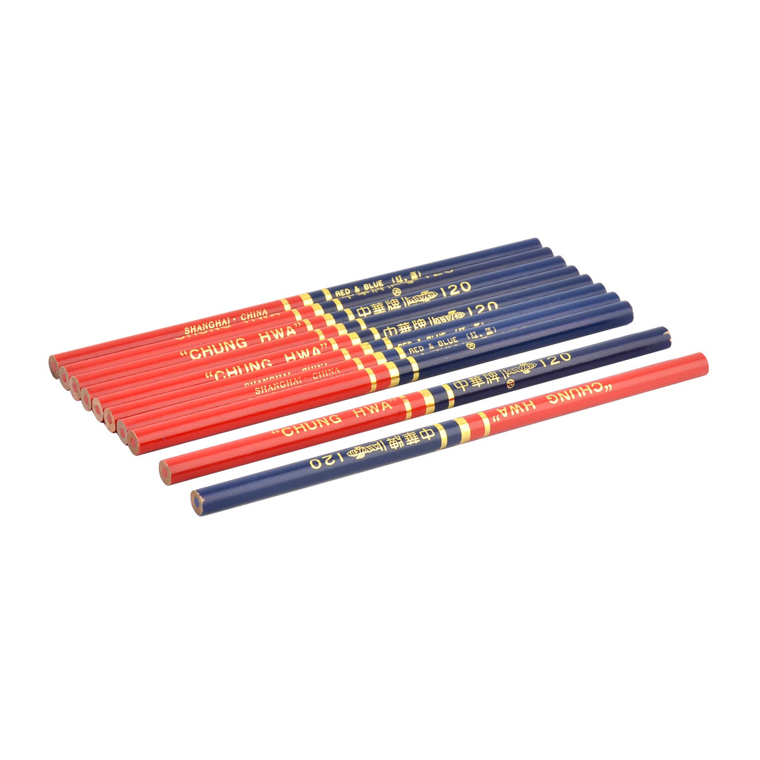 Office School Carpenter Drawing Writing Pencil Dual Head Red Blue 10pcs