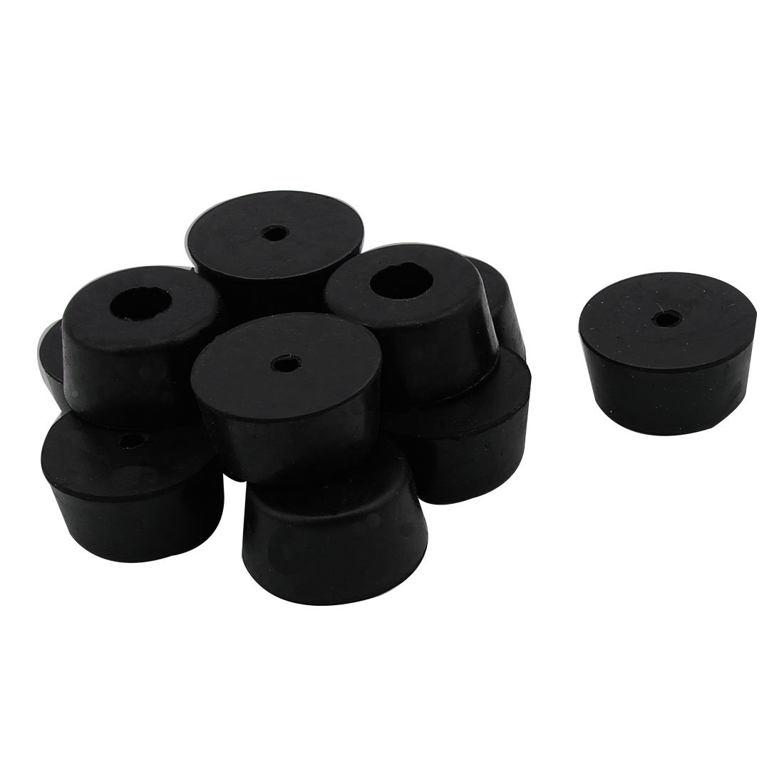 25mm x 22mm x 13mm Cabinet Speaker Furniture Chair Rubber Feet Pad Black 12PCS