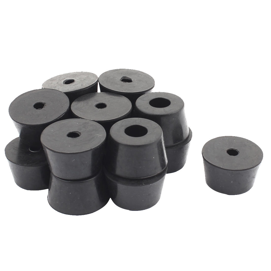Rubber Cover Speaker Furniture Table Chair Feet Pad 32mm x 25mm x 18mm 15PCS