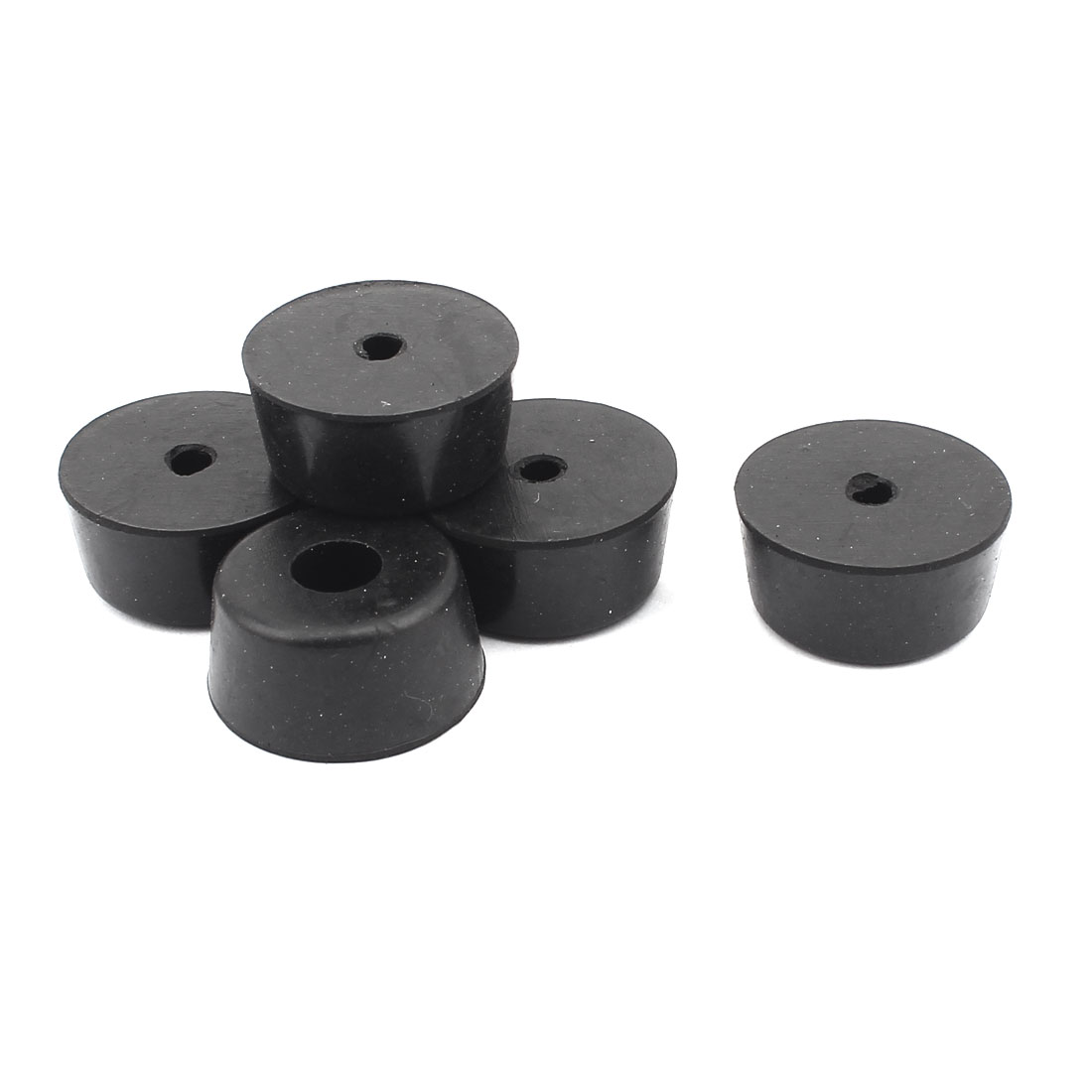 Rubber Cover Speaker Furniture Table Chair Feet Pad 28mm x 23mm x 14mm 6PCS