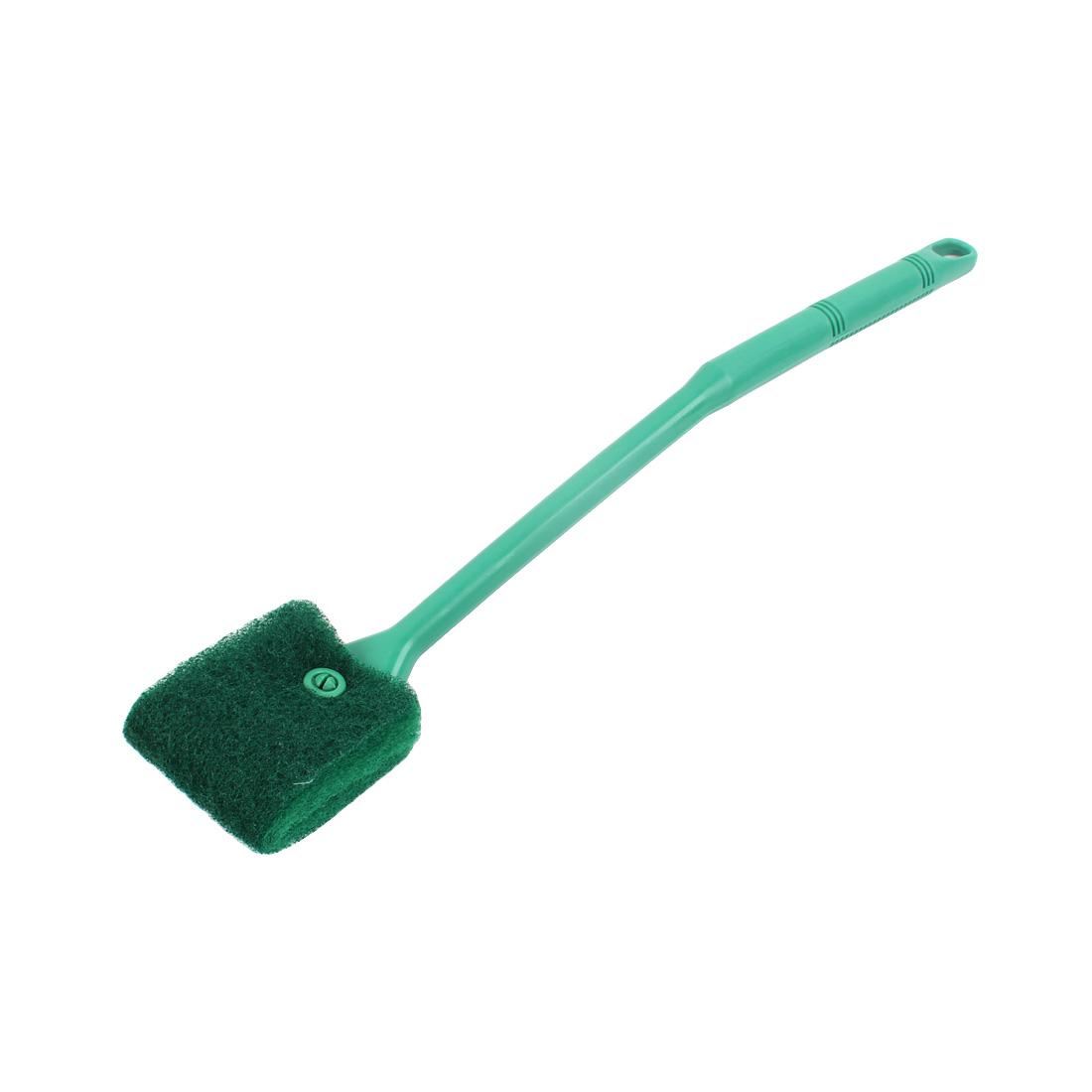 Aquarium Plastic Handle Dual Side Sponge Clean Brush Cleaner Green