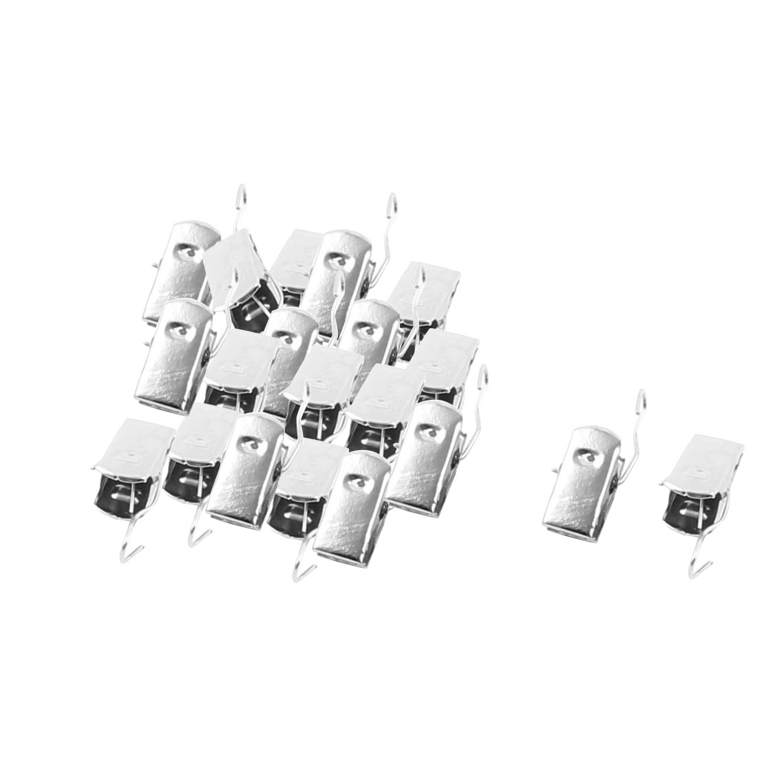 Drapery Window Shower Curtain Rod Metal Spring Loaded Hook Clips Clamps 20pcs