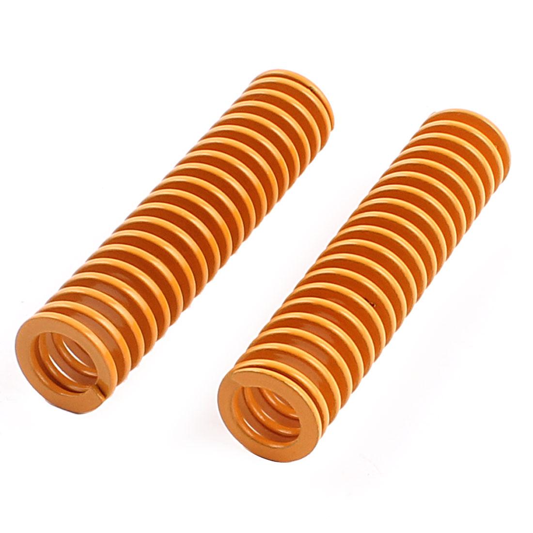 14mm x 60mm Mechanical Metal Spiral Compression Coil Die Spring 2pcs