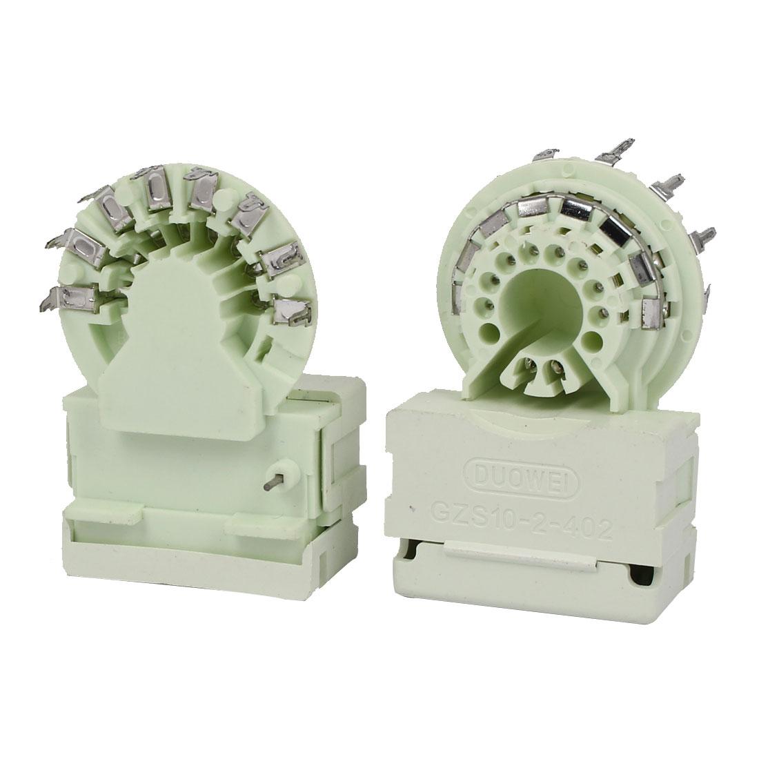 GZS10-2-402 Monitors Color TV PCB Mount 8 Pins Twin Focus CRT Socket 2pcs
