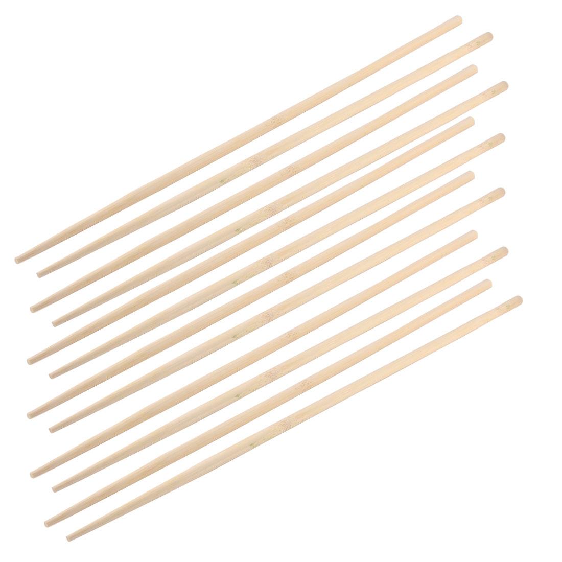 Wooden Clip Kitchen Restaurant Cooking Noodles Chopsticks 45cm Long 6 Pairs