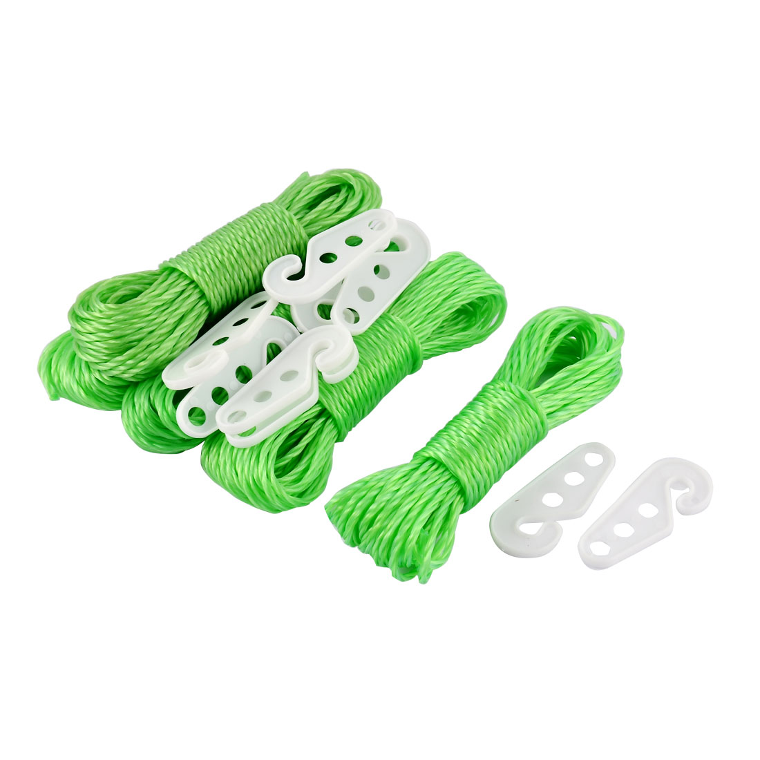 Nylon Line Laundry Hanging Clothes Rope Clothesline 10M 33Ft Long Green 5PCS