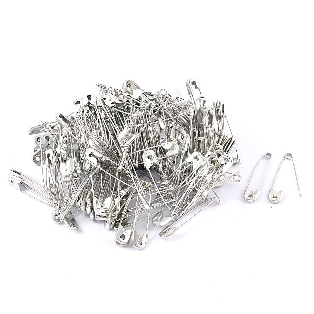Clothes Sewing Knitted Fastener Metal Safety Brooch Pin Silver Tone 250 Pcs