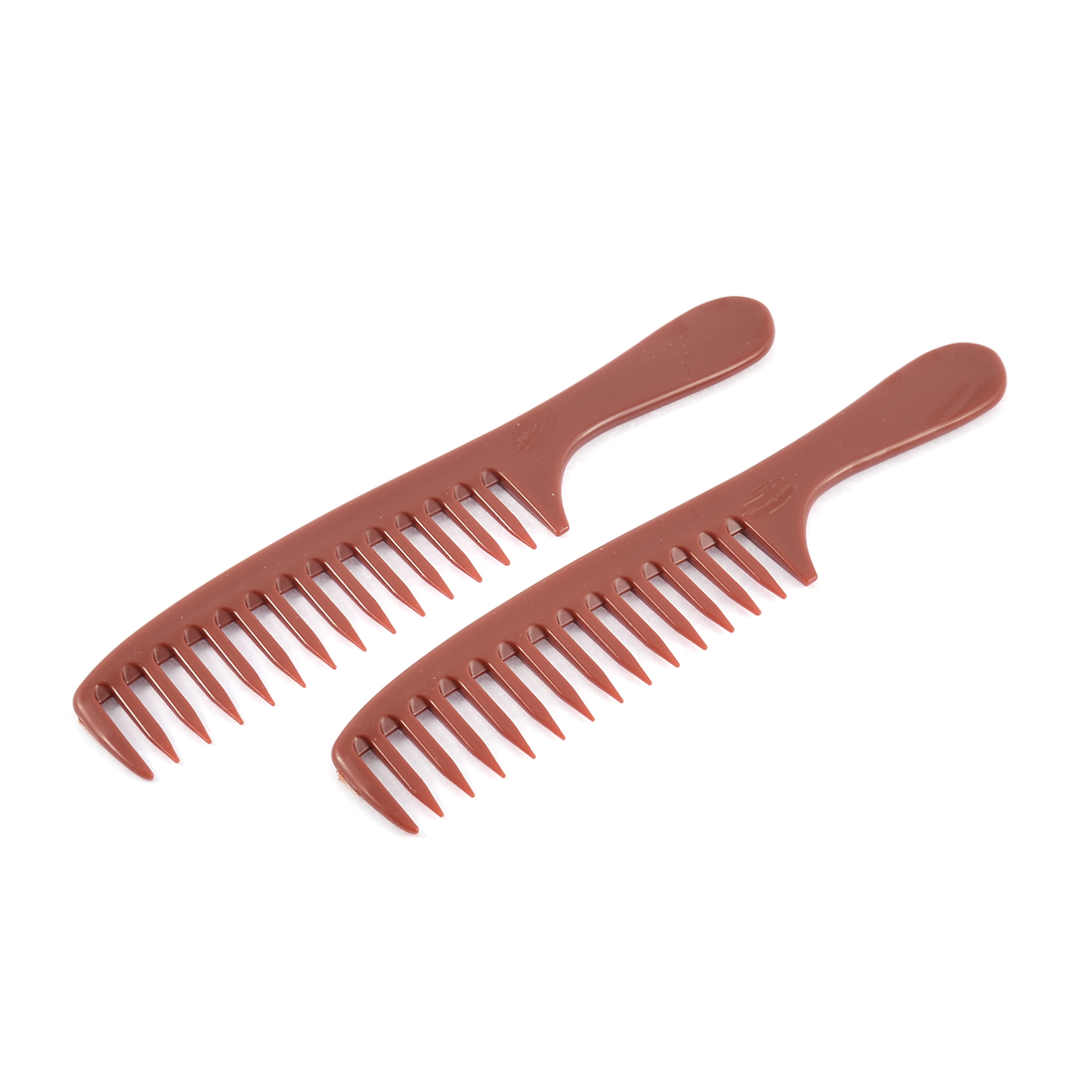 Plastic Hairdressing Anti-static Wode Teeth Hair Comb Beauty Tool 2pcs