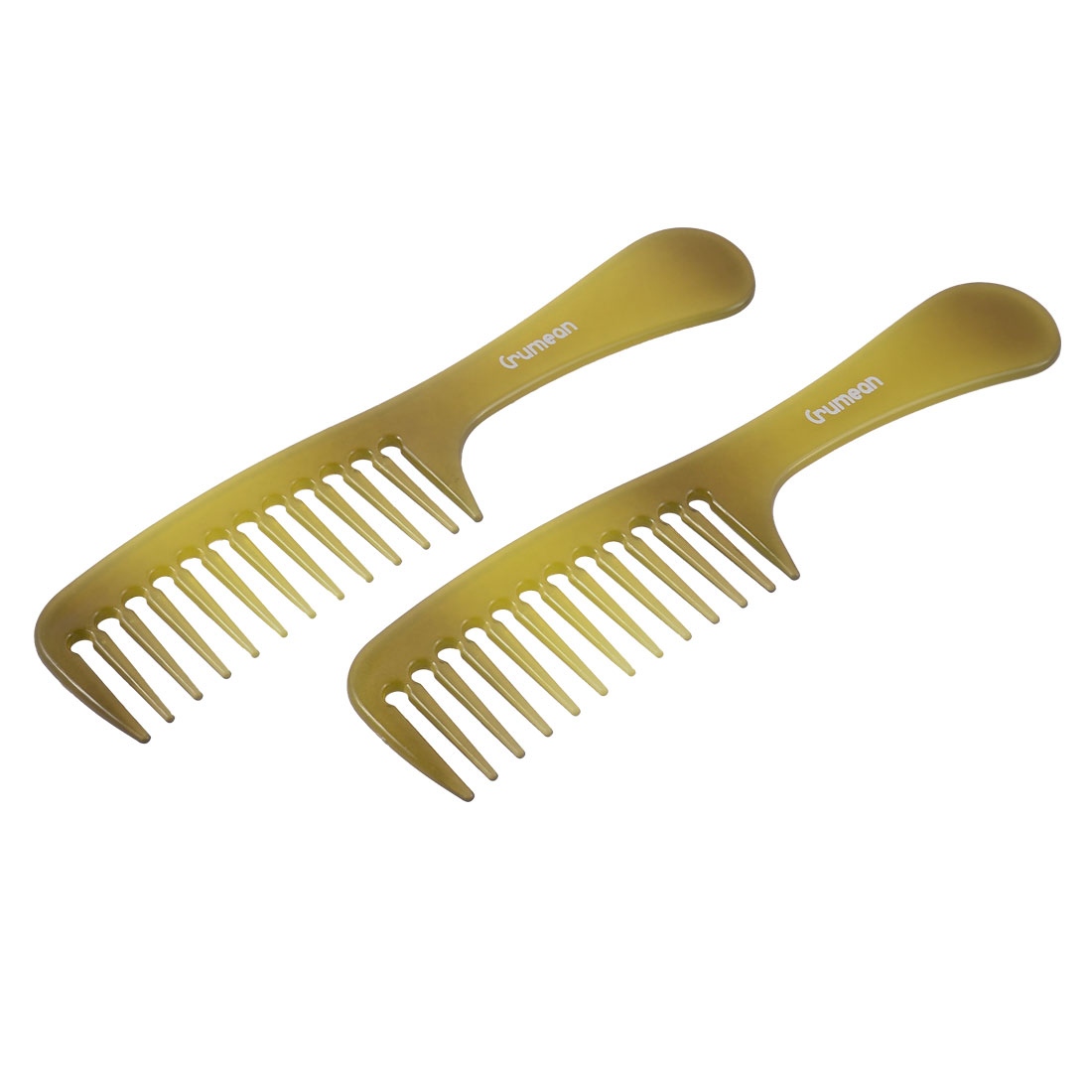 Home Barber Shop Hairdressing Plastic Anti-static Wide Teeth Hair Comb Brush 2pcs