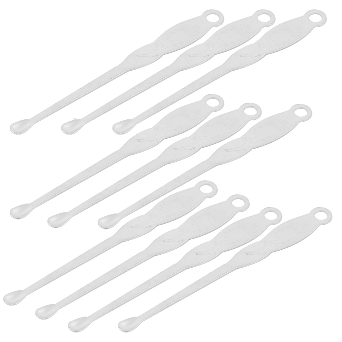 Metal Flower Carven Earpick Ear Curette Earwax Removal Cleaner Silver Tone 10 Pcs