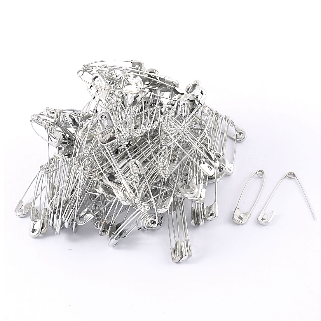 Clothes Trimming Craft Fastener Clip Buttons Metal Safety Pins 250 Pcs
