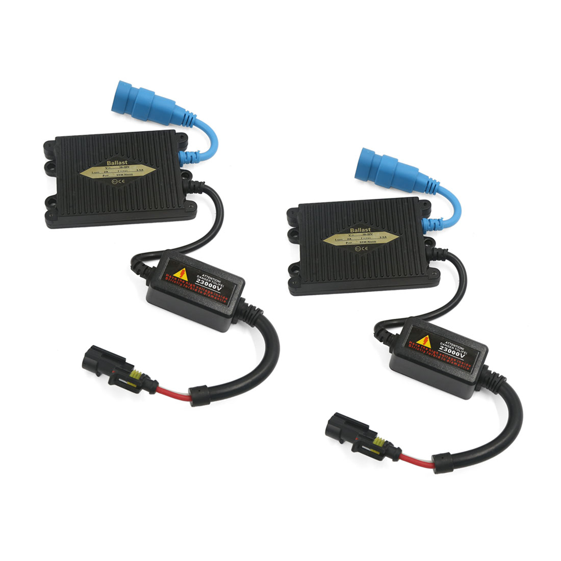Universal AC 55W Ultra-Slim HID Replacement Ballast Xenon Conversion Kit 2 Pcs