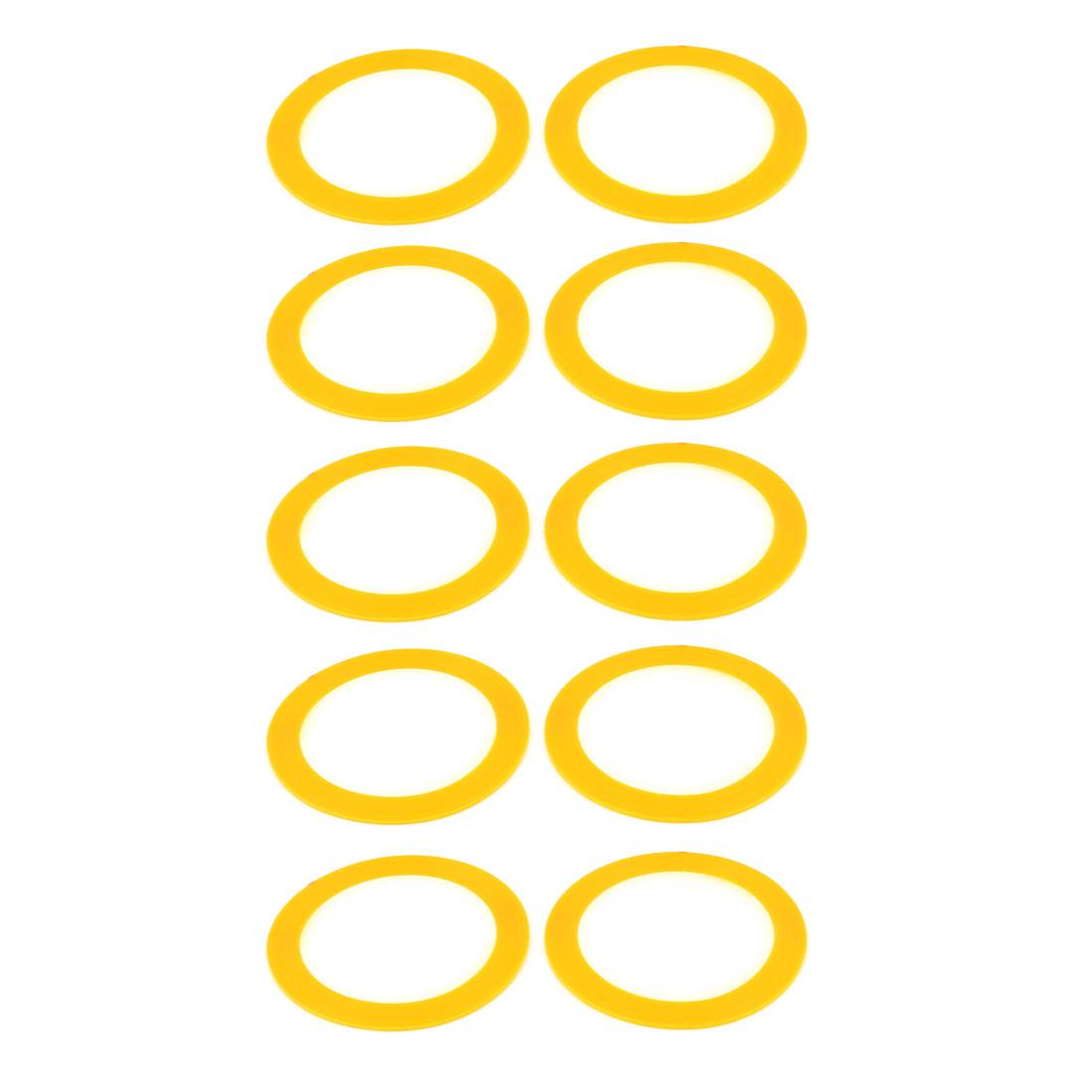 Nail Ornament Line Rolls Tape Sticker Decal 20M 65Ft Long Yellow 10PCS