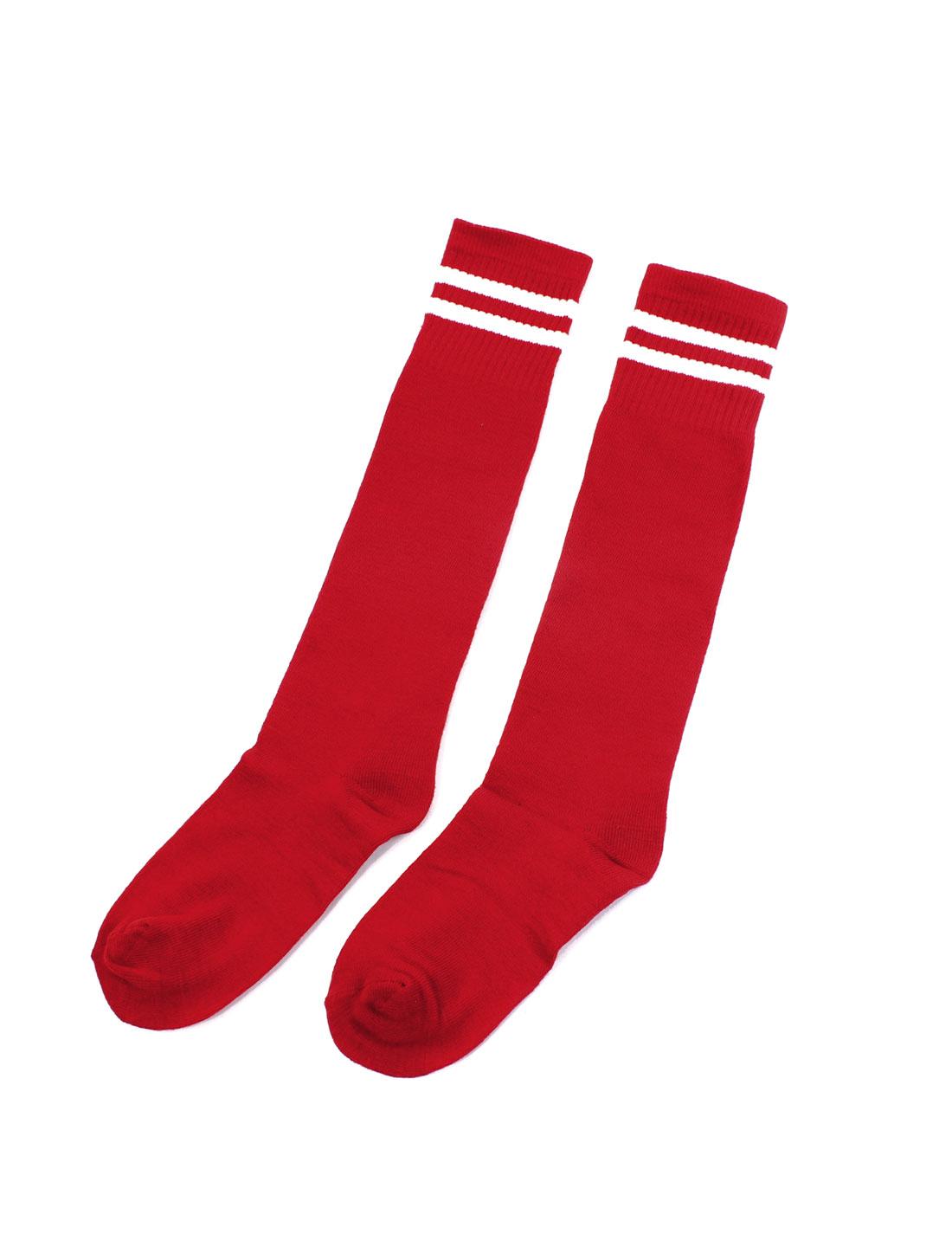 Men Women Football Soccer Baseball Basketball Stockings Ankle Socks Red Pair