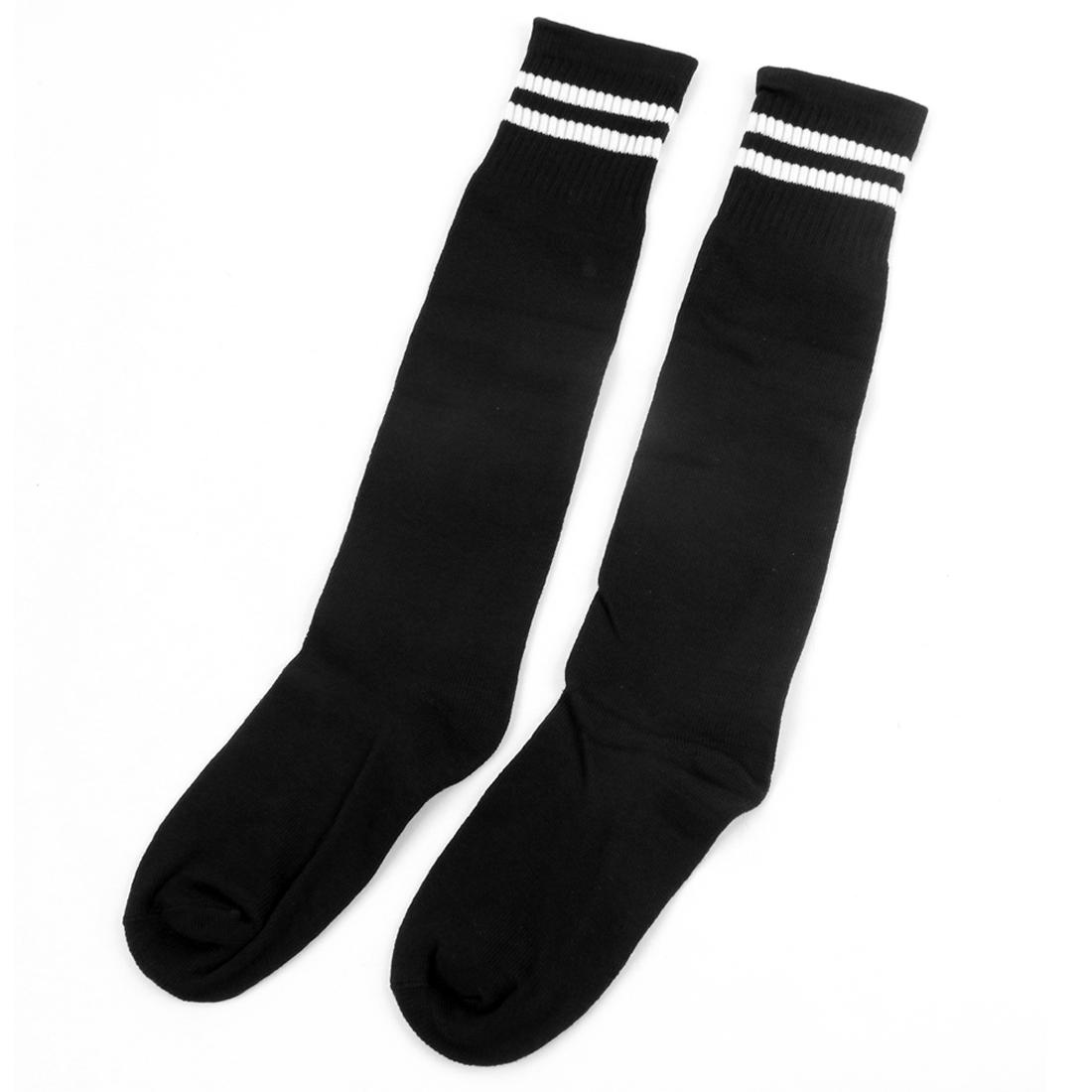 Men Women Football Soccer Baseball Basketball Stockings Ankle Socks Black Pair