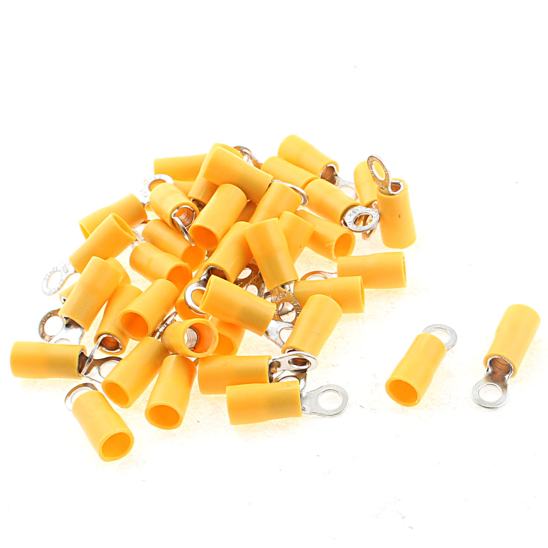RV5.5-4 Pre Insulated Ring Terminal 12-10 AWG Cable Connector Yellow 41pcs