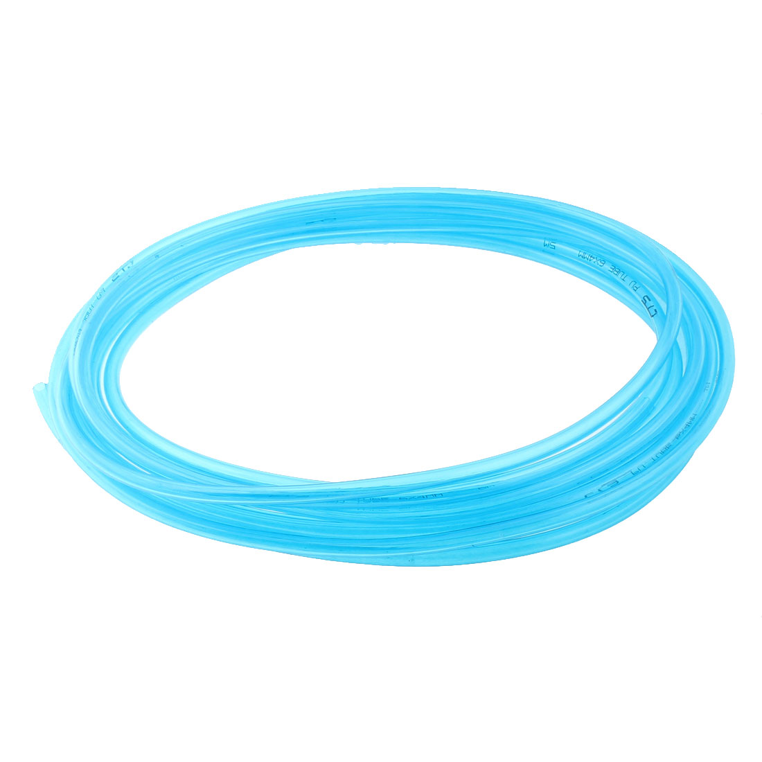 10M Length 6mm x 4mm Dia Pneumatic Polyurethane PU Air Tube Pipe Hose Clear Blue