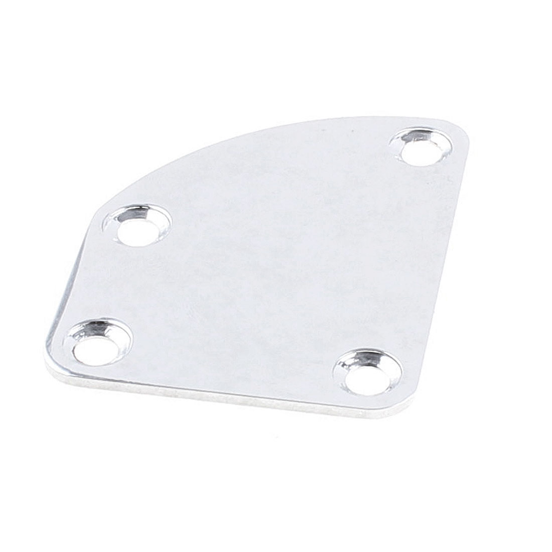 Metal Replacement Part Curved Edge Electric Guitar Neck Plate Silver Tone