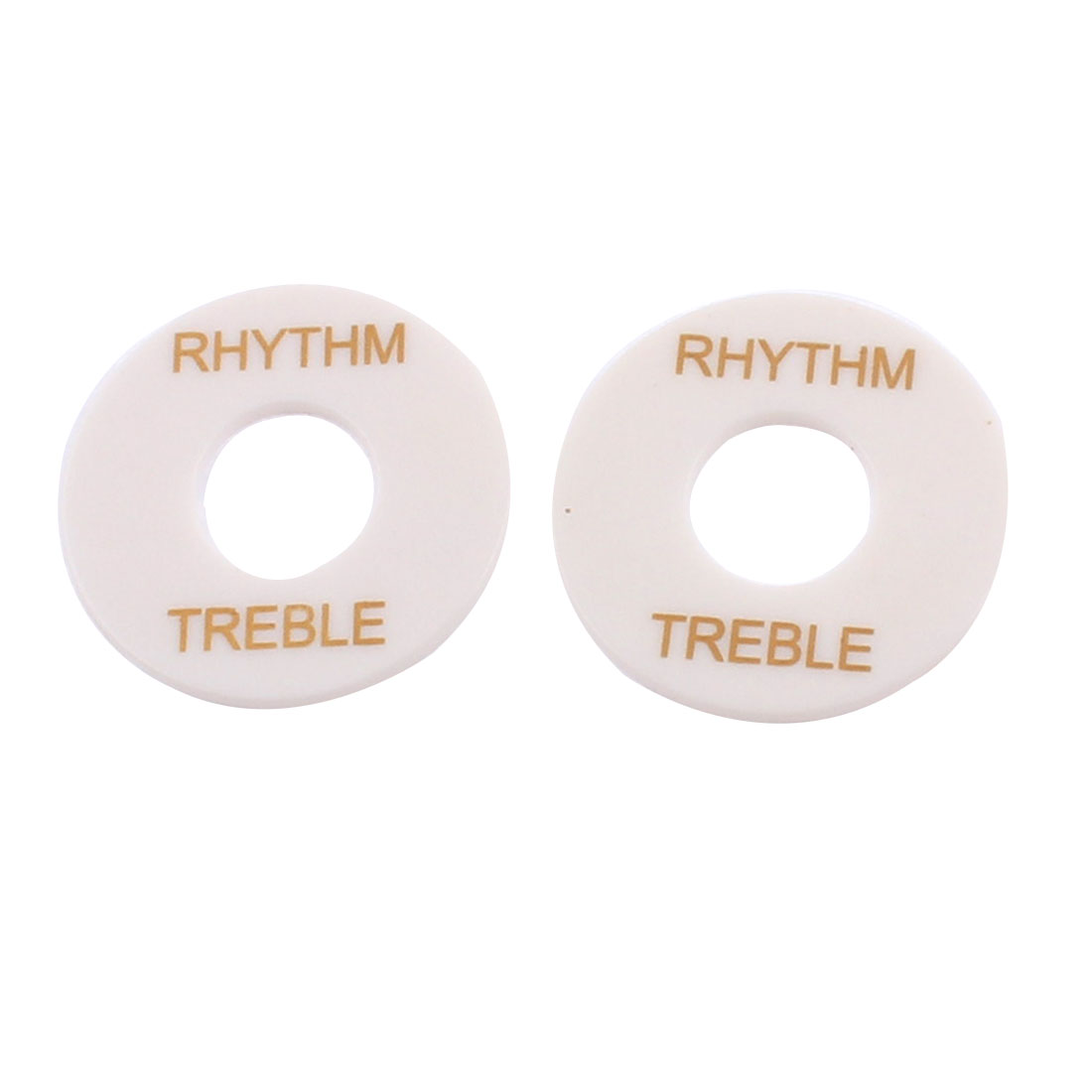 Plastic Electric Guitar Toggle Switch Rhythm Treble Plate Washer Ring White 2pcs