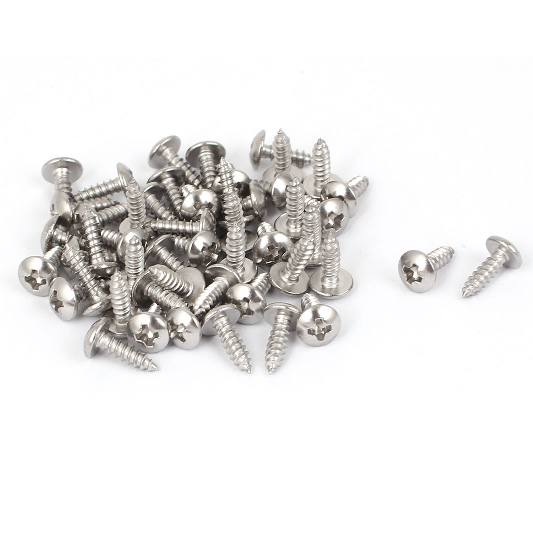 #4 M2.9x9.5mm Stainless Steel Phillips Truss Head Self Tapping Screws 50pcs