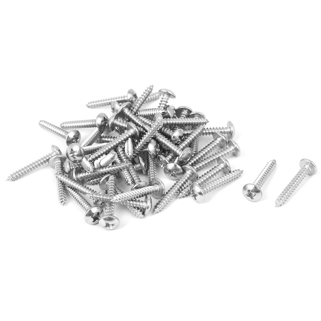 #4 M2.9x19mm Stainless Steel Phillips Truss Head Self Tapping Screws 50pcs