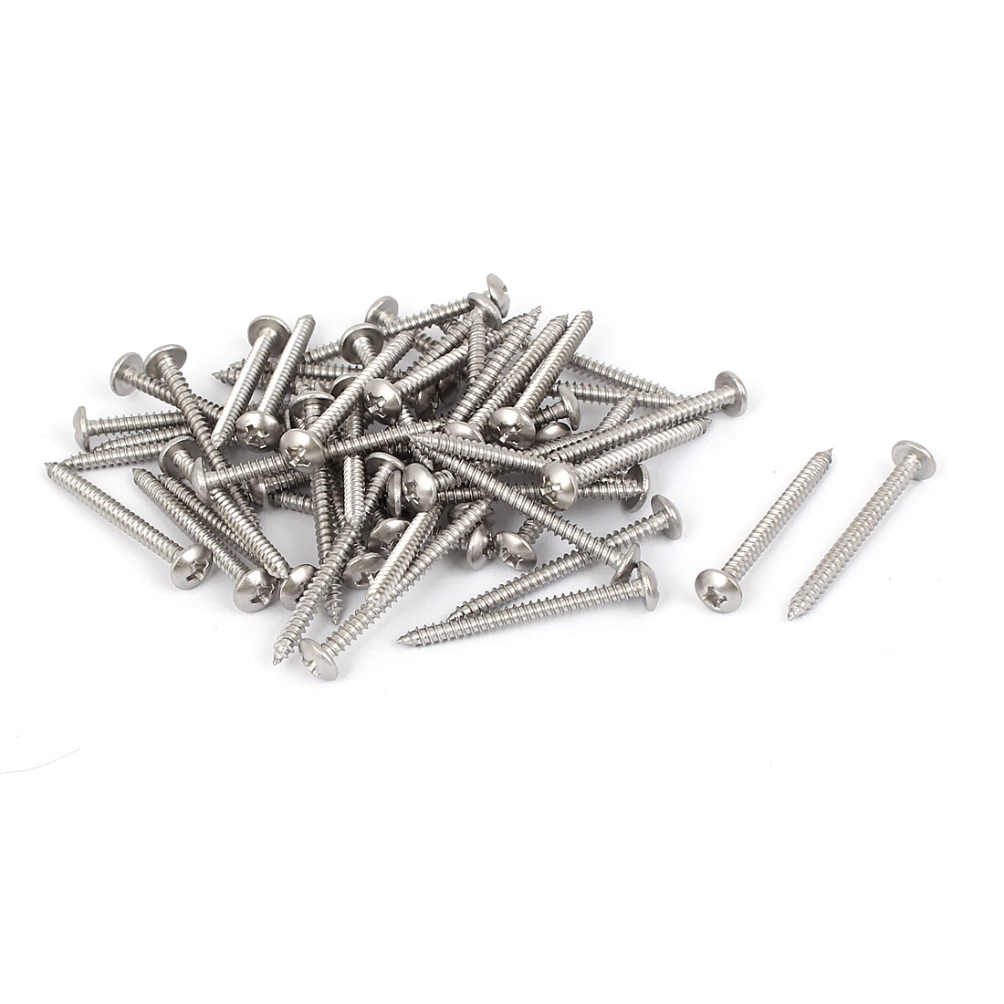 #4 M2.9x32mm Stainless Steel Phillips Truss Head Self Tapping Screws 50pcs