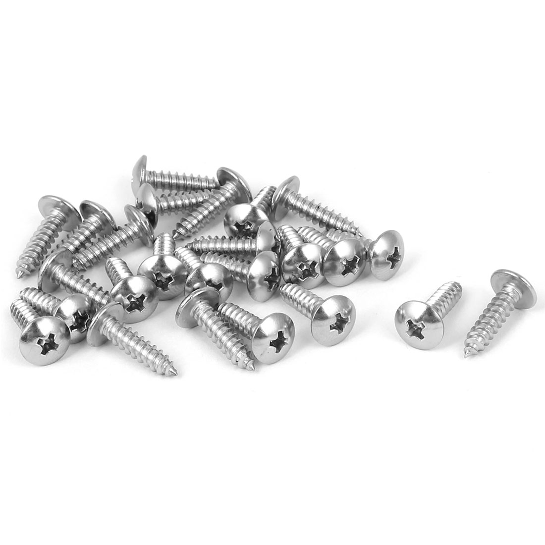 #8 M4.2x16mm Stainless Steel Phillips Truss Head Self Tapping Screws 25pcs