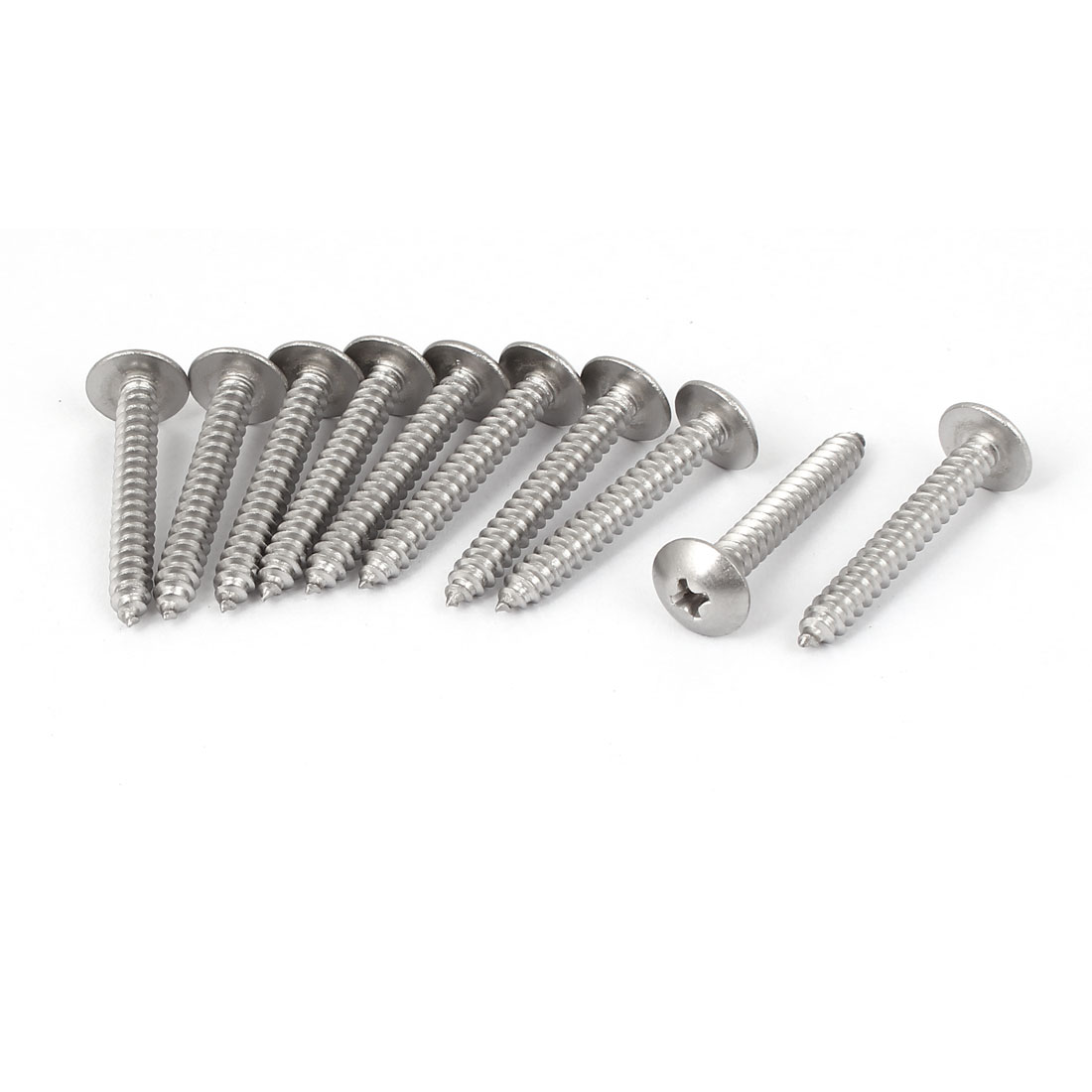 #10 M4.8x35mm Stainless Steel Phillips Truss Head Self Tapping Screws 10pcs
