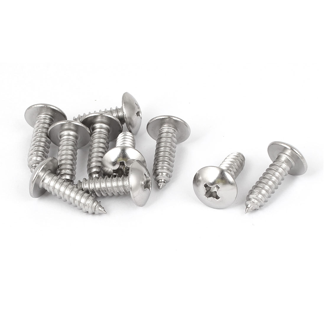 #14 M6.3x22mm Stainless Steel Phillips Truss Head Self Tapping Screws 10pcs
