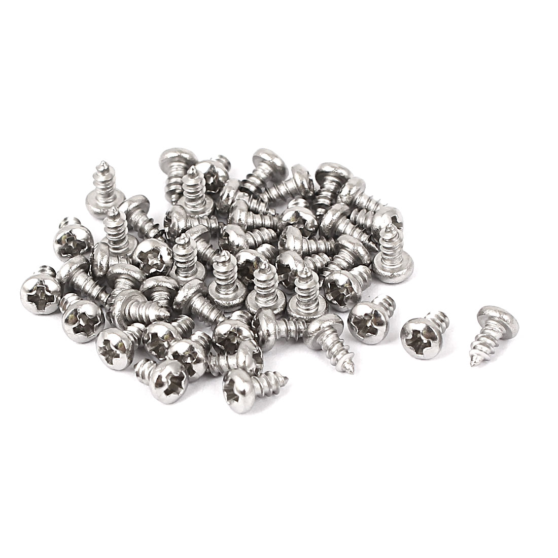 M2.2x4.5mm Stainless Steel Phillips Round Pan Head Self Tapping Screws 50pcs