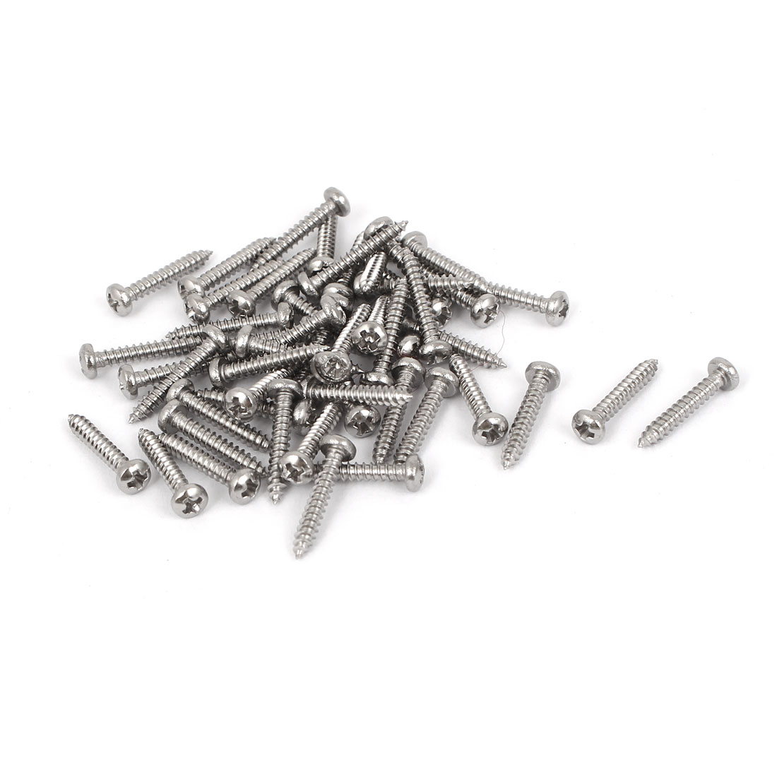 M2.2x13mm Stainless Steel Phillips Round Pan Head Self Tapping Screws 50pcs