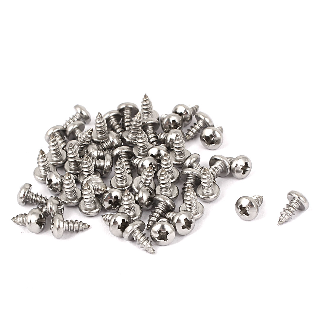 #4 M2.9x6.5mm Stainless Steel Phillips Round Pan Head Self Tapping Screws 50pcs