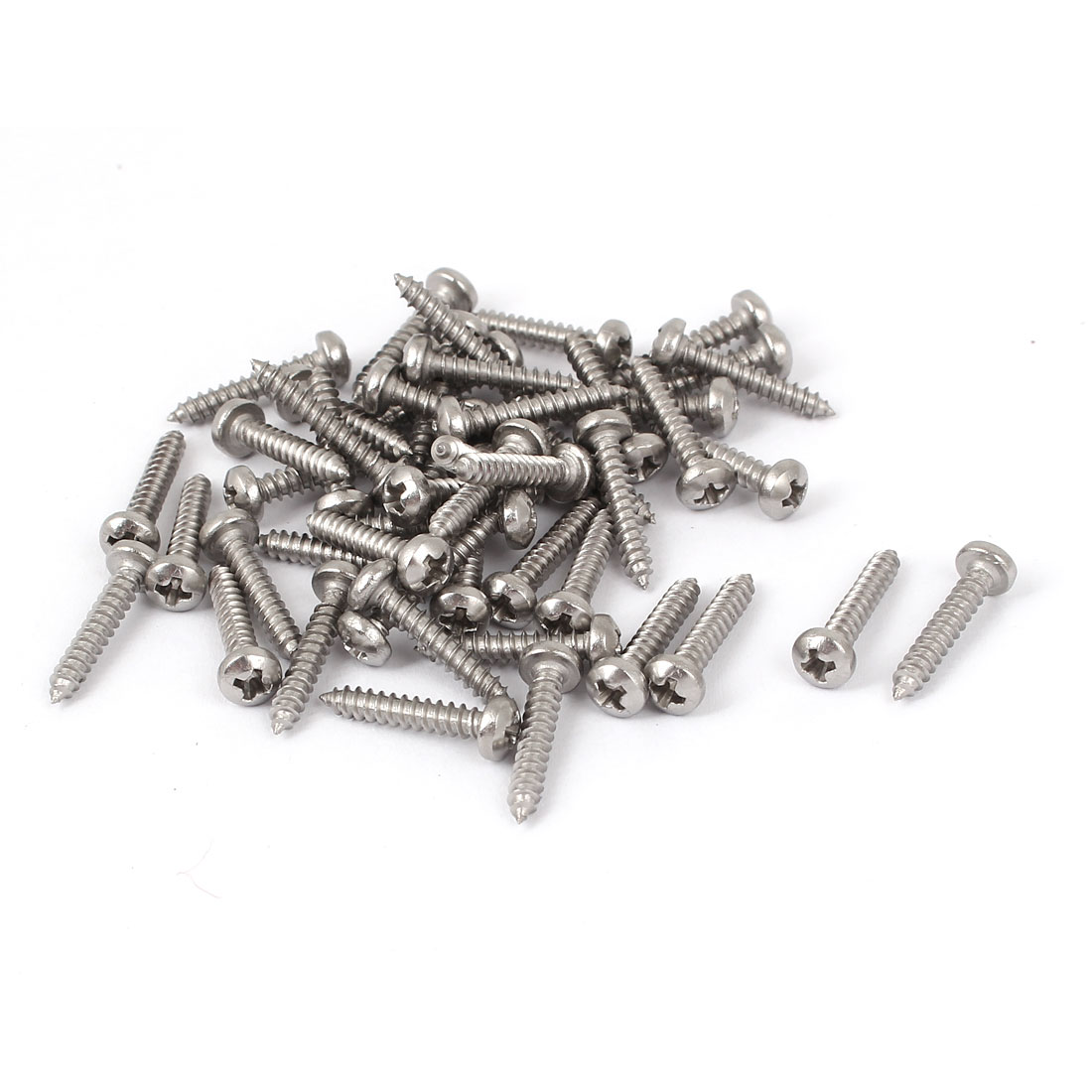 #4 M2.9x16mm Stainless Steel Phillips Round Pan Head Self Tapping Screws 50pcs