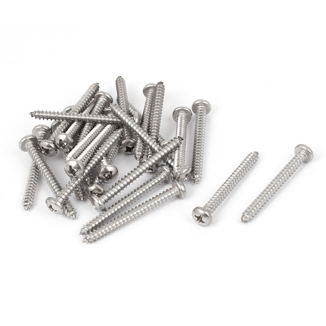 #6 M3.5x35mm Stainless Steel Phillips Round Pan Head Self Tapping Screws 25pcs