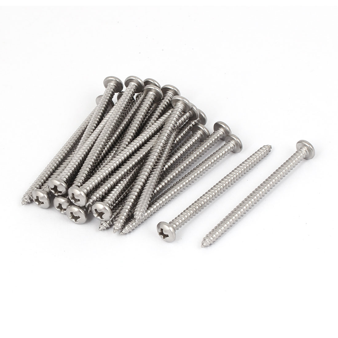 #6 M3.5x50mm Stainless Steel Phillips Round Pan Head Self Tapping Screws 25pcs