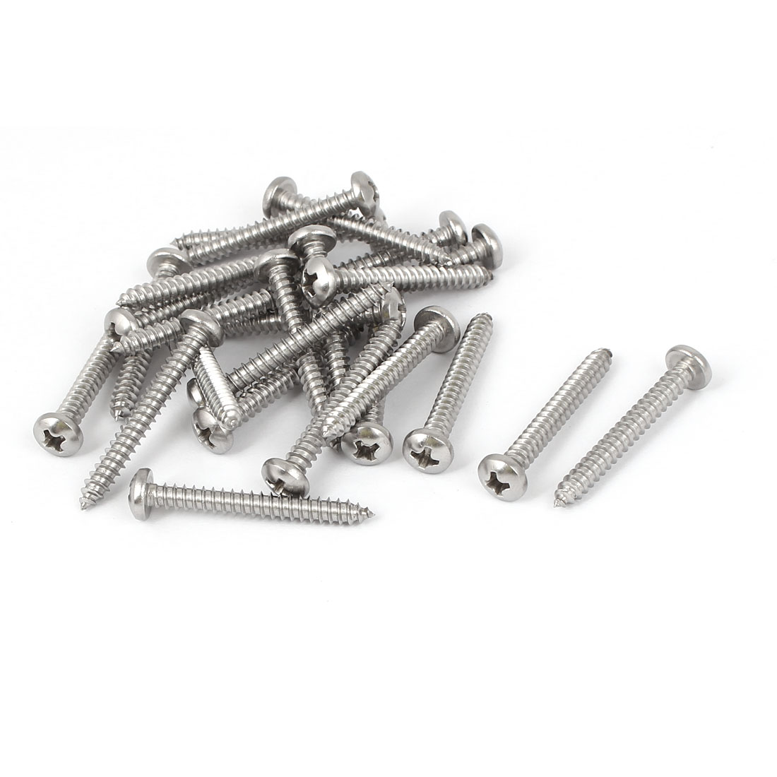 #7 M3.9x32mm Stainless Steel Phillips Round Pan Head Self Tapping Screws 25pcs