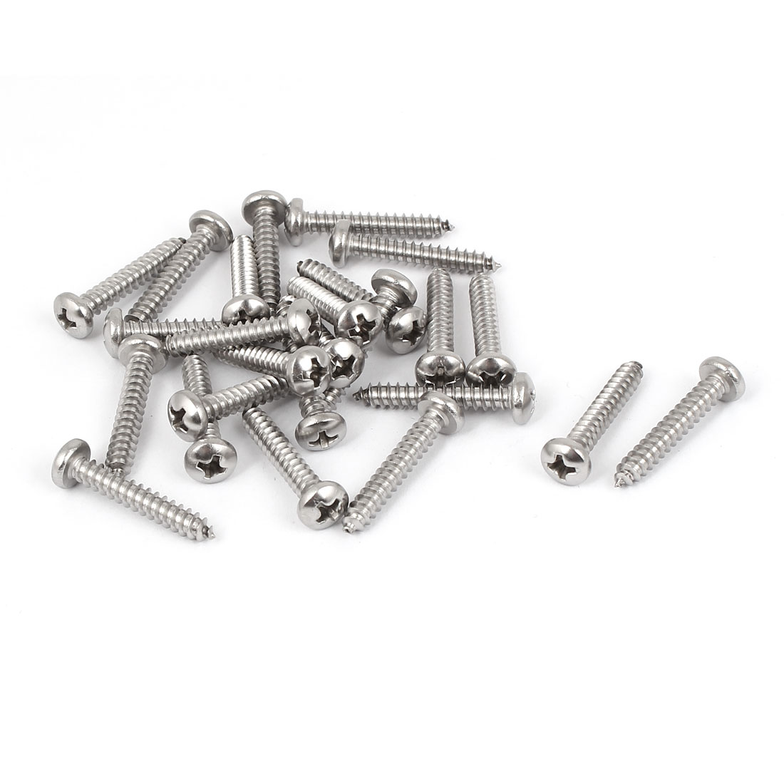 #8 M4.2x25mm Stainless Steel Phillips Round Pan Head Self Tapping Screws 25pcs