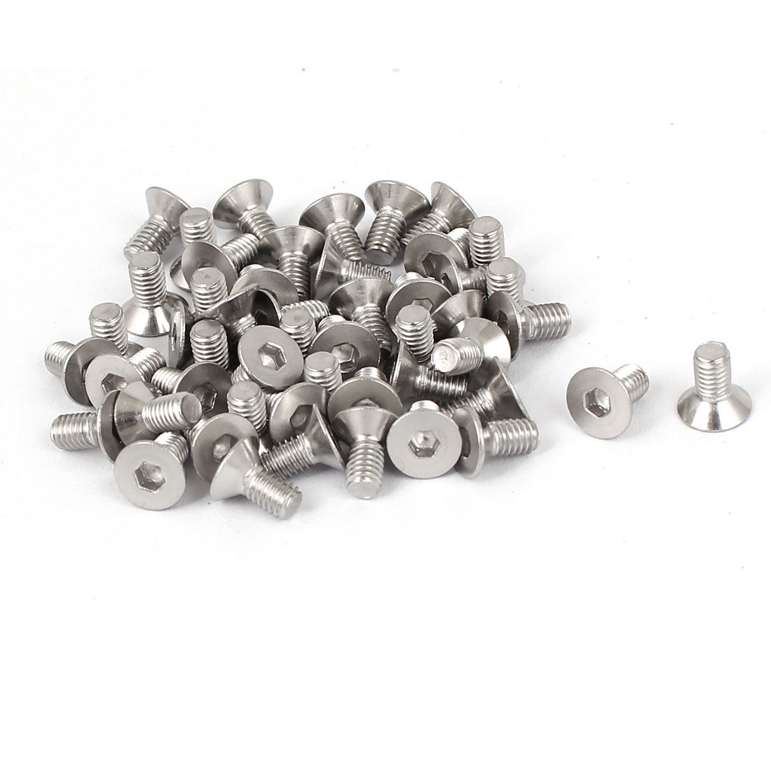 M3x6mm Stainless Steel Hex Socket Flat Head Countersunk Bolts Screw 50pcs
