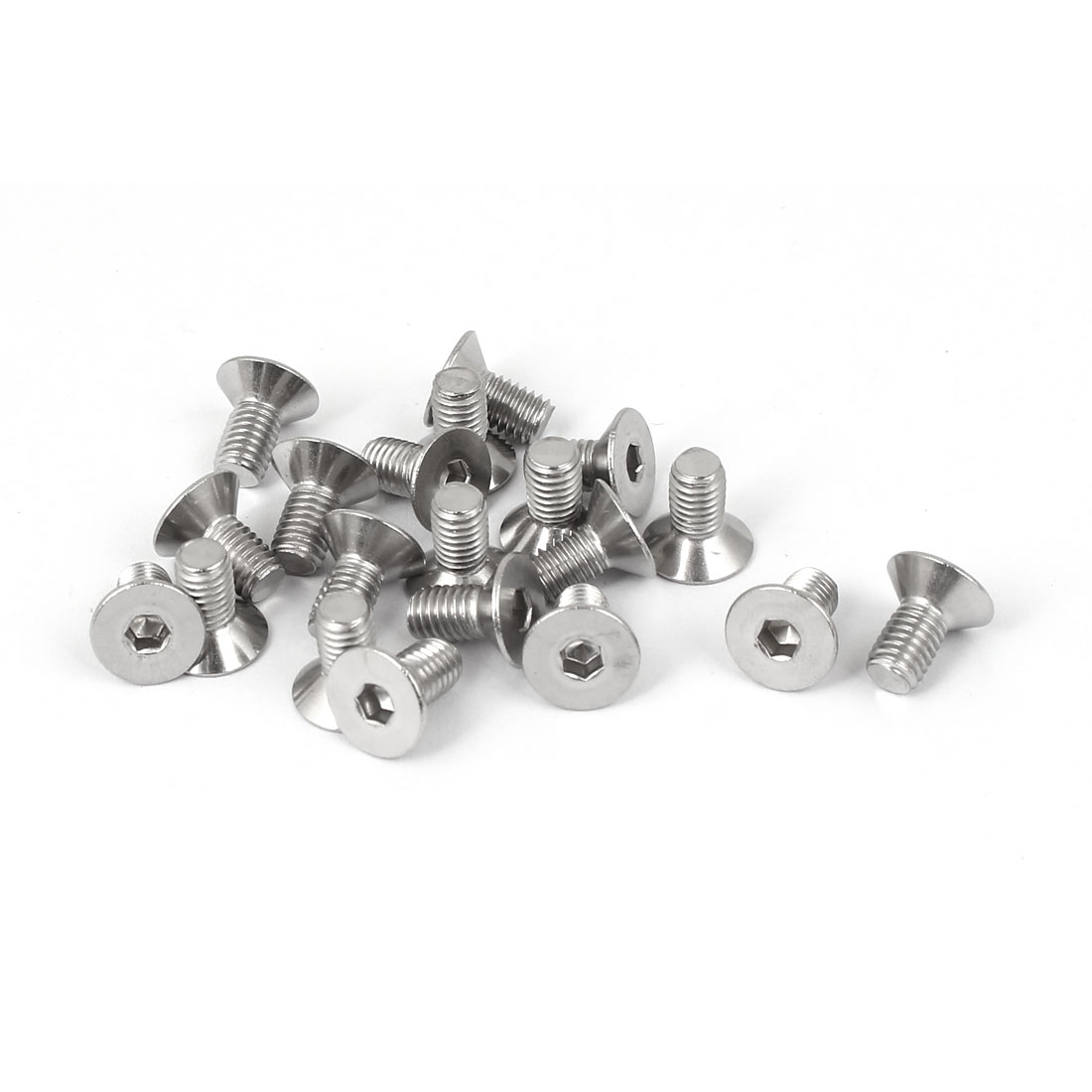M5x10mm Stainless Steel Hex Socket Flat Head Countersunk Bolts Screw 20pcs