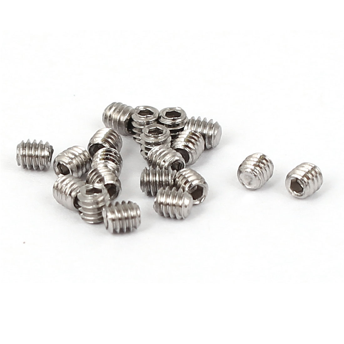 M2x2mm Cup Point Hex Socket Grub Set Screws 20pcs for Gear
