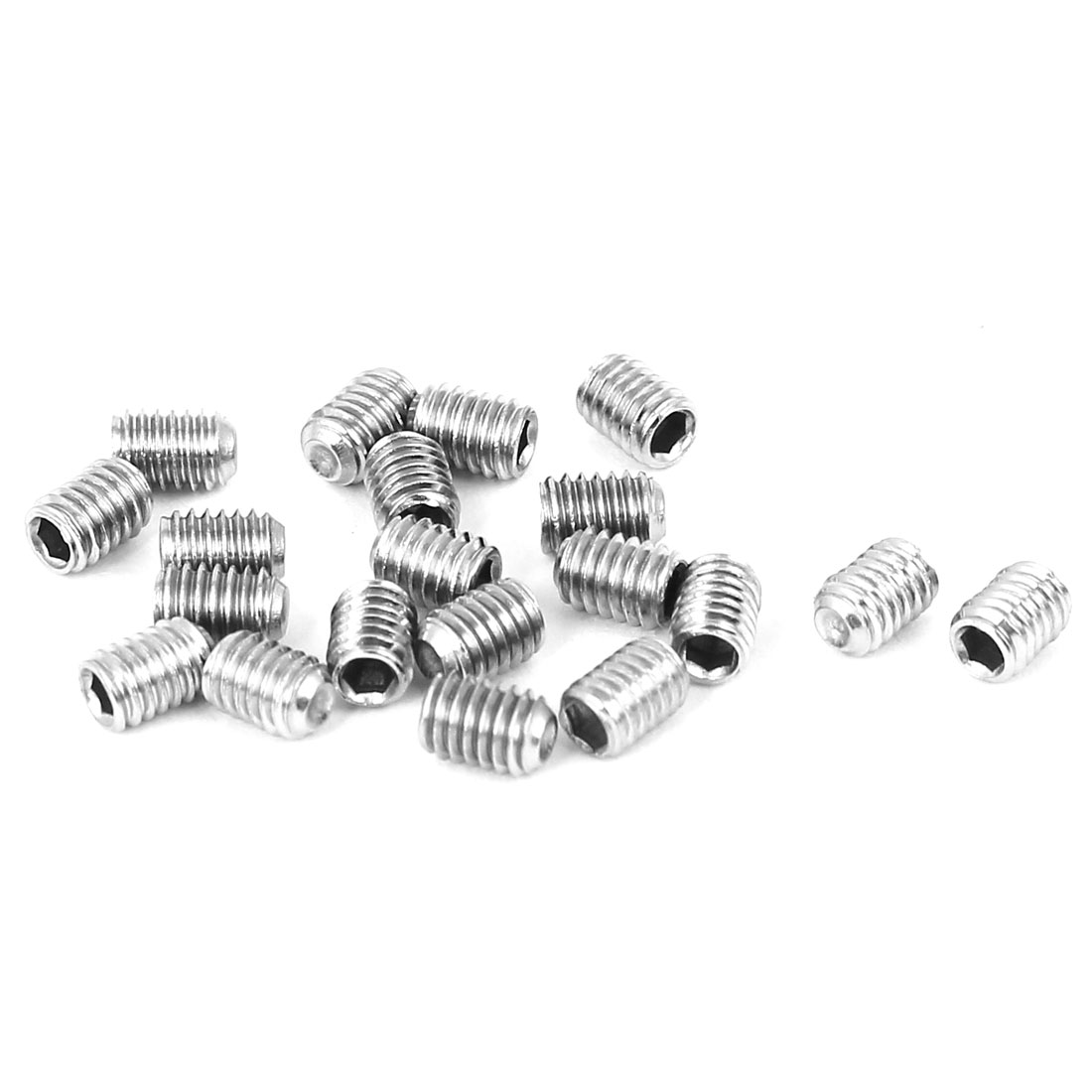 M3x4mm Cup Point Hex Socket Grub Set Screws 20pcs for Gear