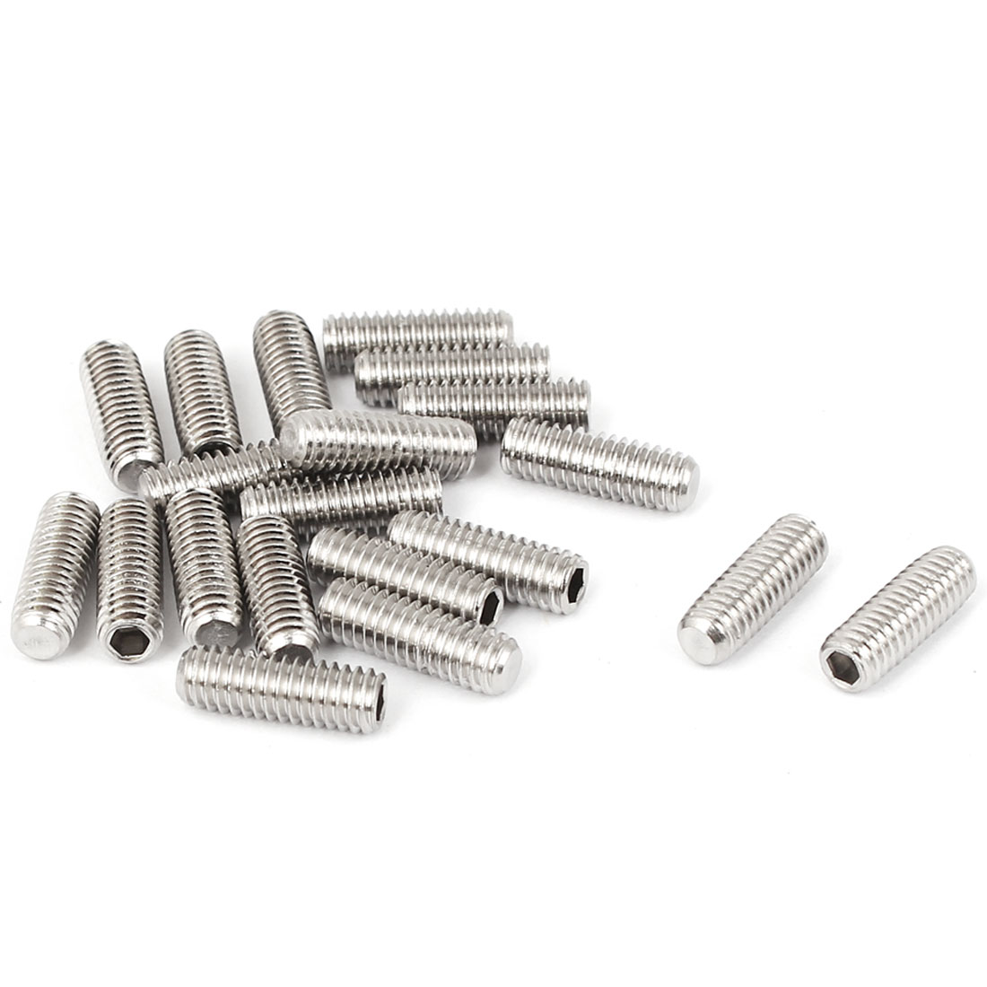 M4x12mm Cup Point Hex Socket Grub Set Screws 20pcs for Gear