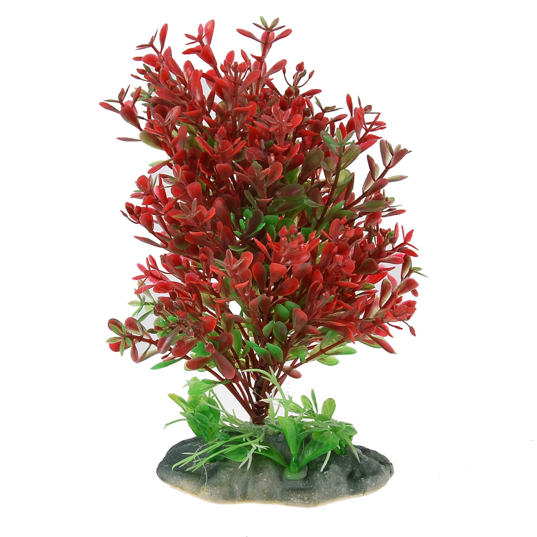 Aquarium Plastic Artificial Plant Underwater Grass Ornament Green Red